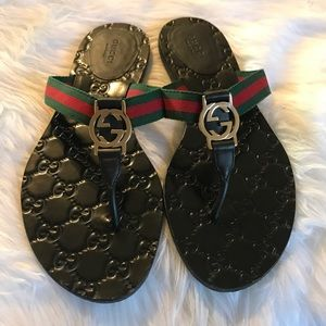 Gucci GG Logo Sandal Size 38!!!
